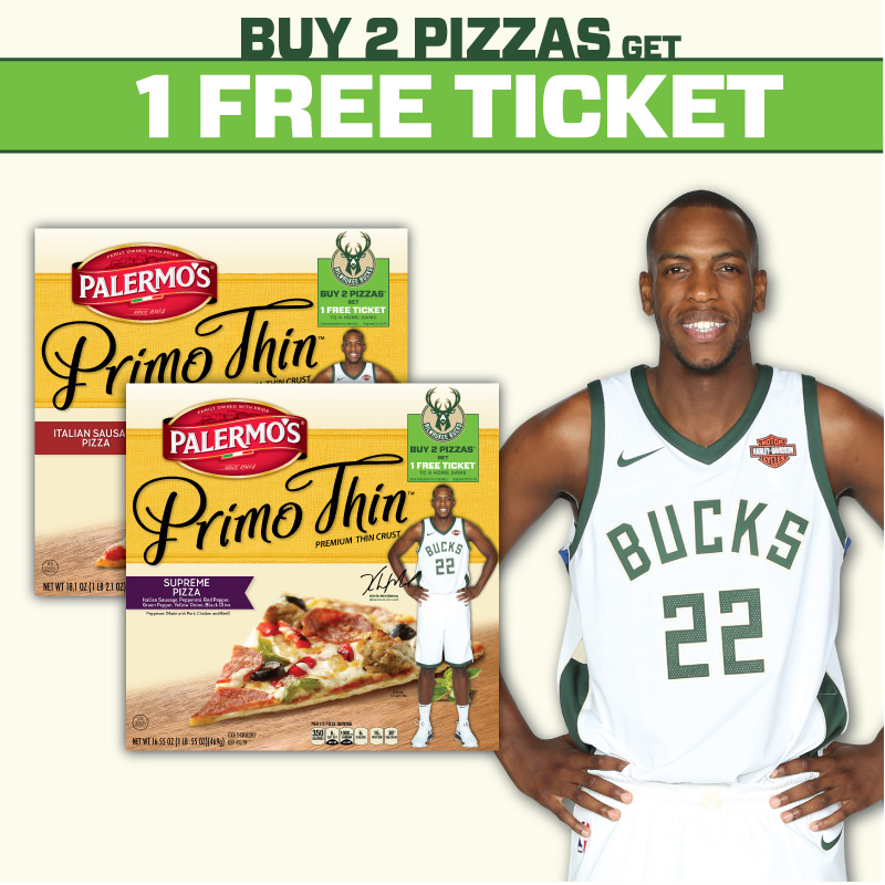 Palermo's Teams Up with the Milwaukee Bucks for Ticket Promotion