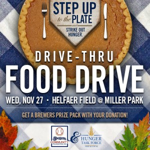 Join Us at the Thanksgiving Drive-Thru Food Drive at Miller Park