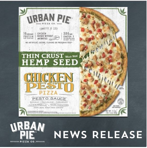 Urban Pie Launches Hemp Seed Pizza