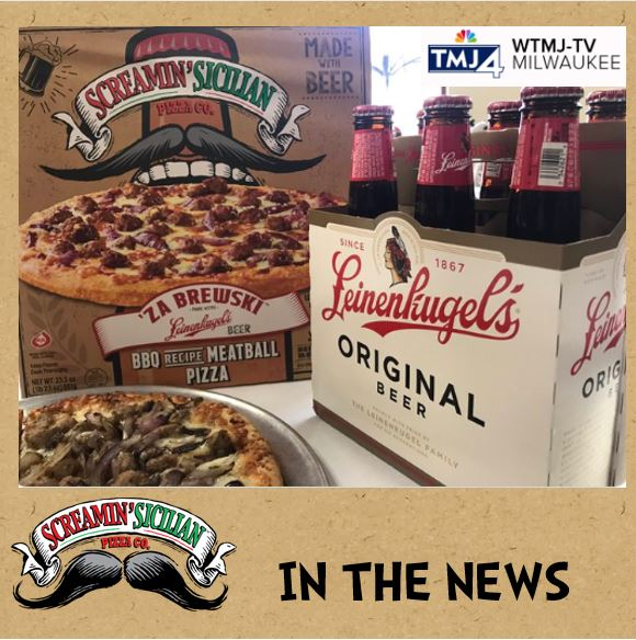 Beer-infused pizza from Palermo's and Leinenkugel's