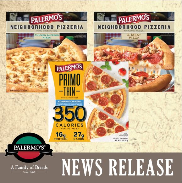 Three New Flavors Join Palermo's Pizza Line Up